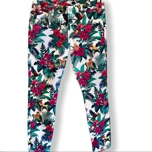 Tommy Bahama tropical print jeans